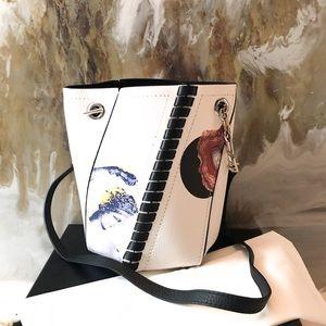 Proenza Schouler Mini Hex Graphic Print Bucket Bag